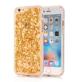 Silikon Hülle für iPhone 6 / 6s - Transparent / Gold