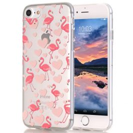 Silikon Hülle für iPhone 8 - Rosa Flamingo
