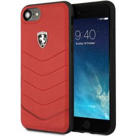 Ferrari Apple iPhone 7 Leder Schale - Rot