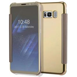 Clear View Hülle für Galaxy A5 (2016) - Gold