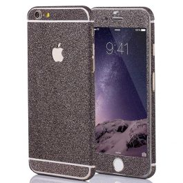 Glitzerfolie für iPhone 4 / 4s - Anthrazit