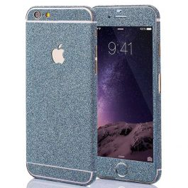 Glitzerfolie für iPhone 6 / 6s - Blau