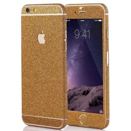 Glitzerfolie für iPhone 6 / 6s - Gold