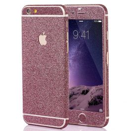 Glitzerfolie für iPhone 6 / 6s - Pink