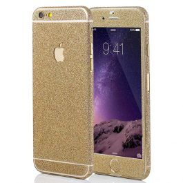 Glitzerfolie für iPhone 6 Plus - Champagner