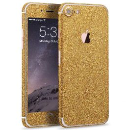 Glitzerfolie für iPhone 7 - Gold