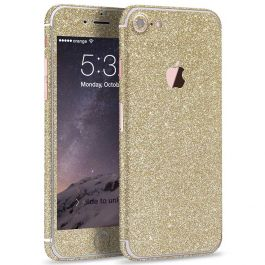 Glitzerfolie für iPhone 7 Plus - Champagner