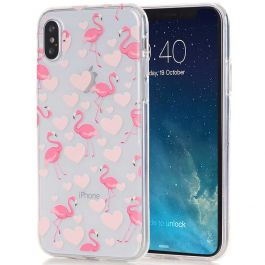 Silikon Case für iPhone X - Rosa Flamingo