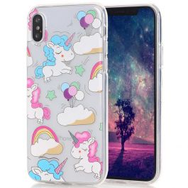 Silikon Case für iPhone X - Sweet Einhorn