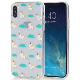 Silikon Case für iPhone X - Unicorn