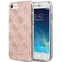 Guess Apple iPhone 7 Glitzer Hülle - Rosa