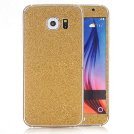 Glitzerfolie für Samsung Galaxy S7 Edge - Gold