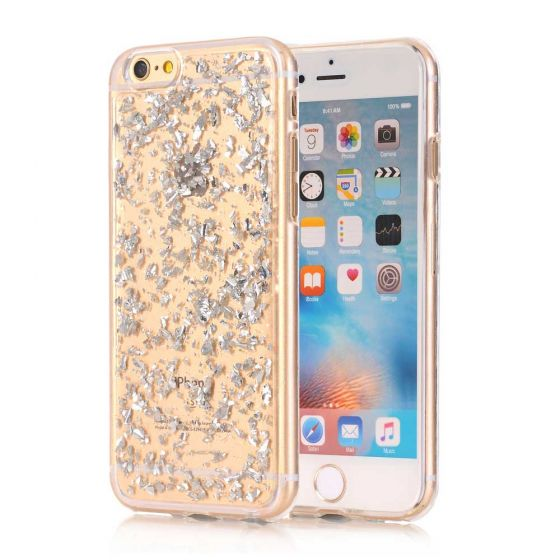 iPhone 6 Silikon Case Silber Transparent