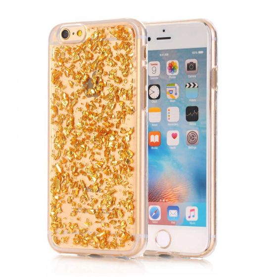 iPhone 6 Silikon Case Gold Transparent