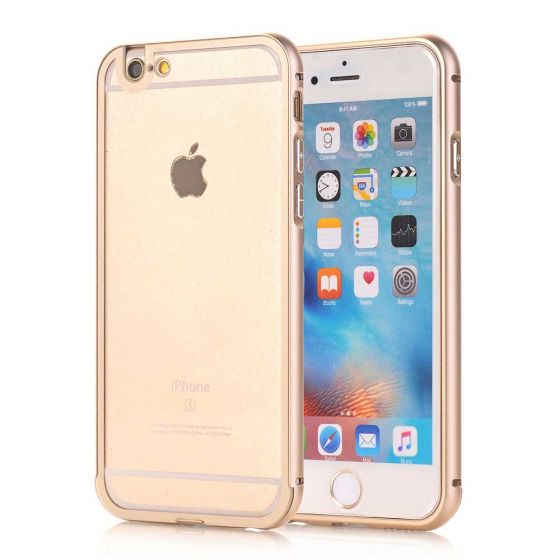 iPhone 6 Hülle Alu Case Gold Transparent