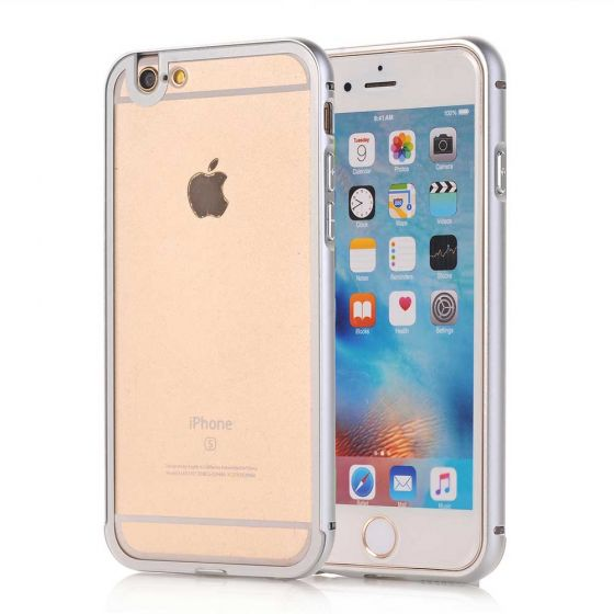 Bumper für iPhone 6 Plus / 6s Plus - Silber / Transparent