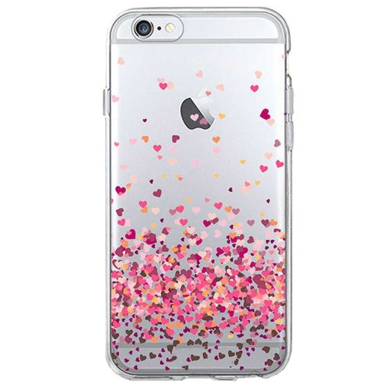iPhone 6 Silikon Case Rosa Herzen