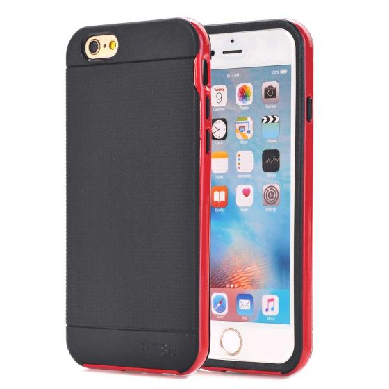 Handyhülle für Apple iPhone 6 Plus / 6s Plus Covercase in Schwarz / Rot