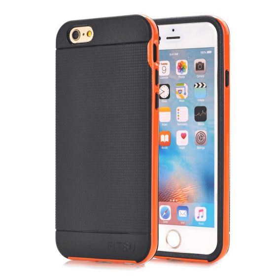 Handyhülle für Apple iPhone 6 Plus / 6s Plus Covercase in Schwarz / Orange