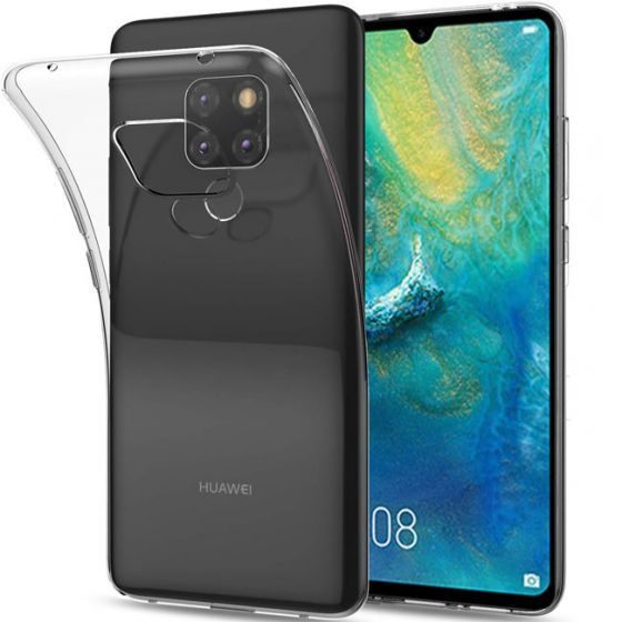 Silikon Case für Mate 20 in Transparent | handyhuellen-24.de