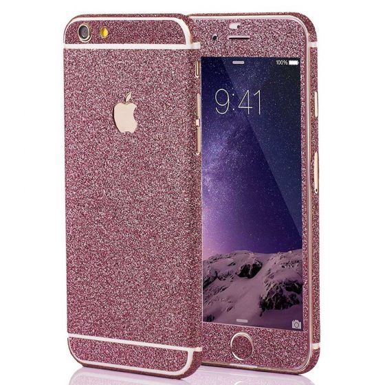 Glitzer Handyfolie für Apple iPhone 5 / 5s / SE in Pink