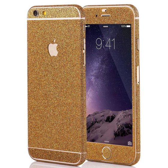 Glitzer Handyfolie für Apple iPhone 6 Plus / 6s Plus in Gold