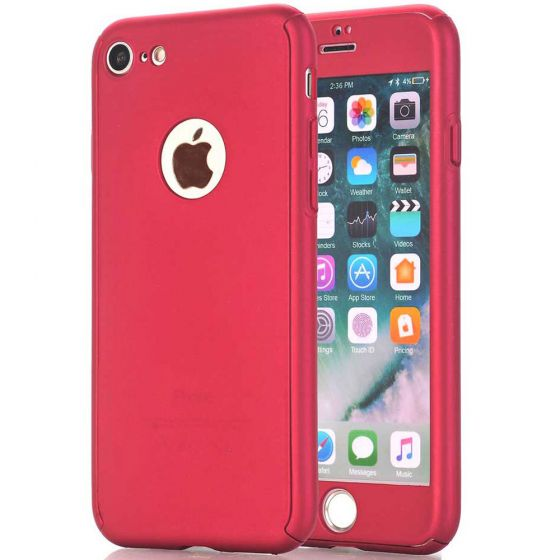 iPhone 6 Full Cover inkl. Panzerglas Rot