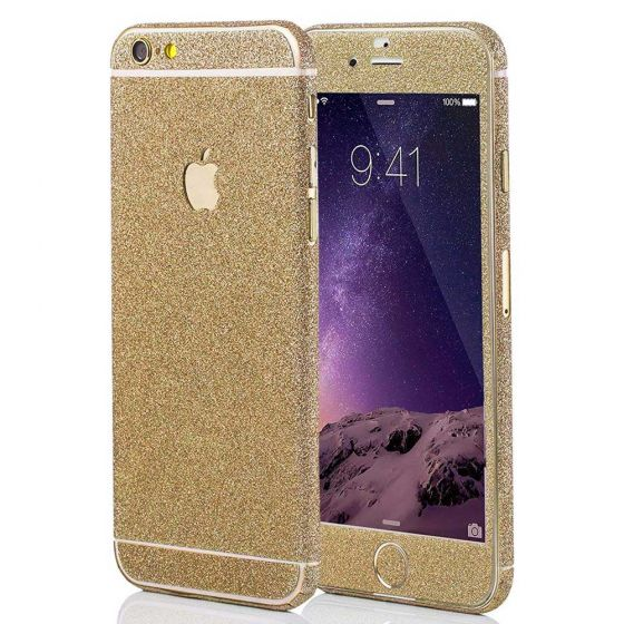 Glitzer Handyfolie für Apple iPhone 6 Plus / 6s Plus in Champagner