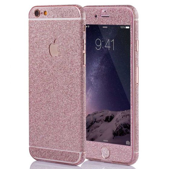 Glitzer Handyfolie für Apple iPhone 6 Plus / 6s Plus in Rosa