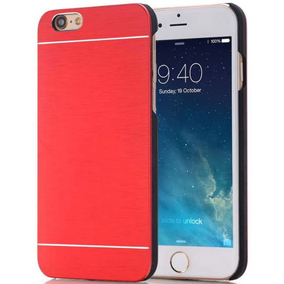 iPhone 7 Alu Case- Bumper Hülle - Rot