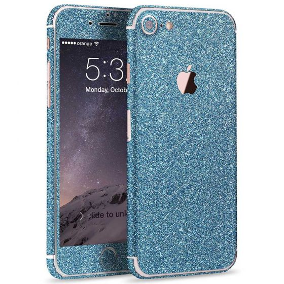 Glitzer Handyfolie für Apple iPhone 7 in Blau