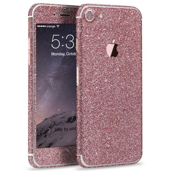 Glitzer Handyfolie für Apple iPhone 7 in Pink