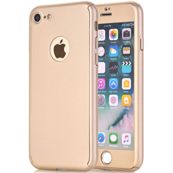 iPhone 7 Fullcover Hülle - Gold