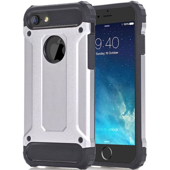 Robuste Outdoor Hülle für Apple iPhone 6 / 6s in Silber